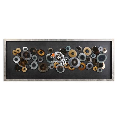 现代美式墙饰墙镜挂钟白底图